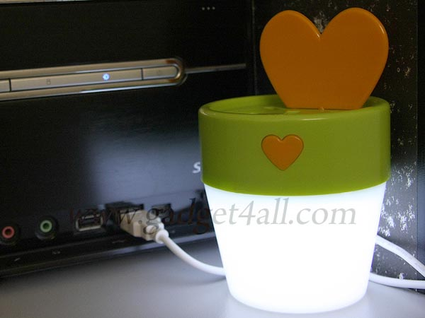 Flowerpot Shaped USB Hub Integrated LED Light