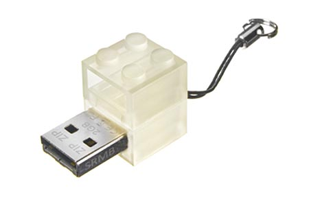 Glow in the Dark LEGO Brick Styled USB Falsh Drive