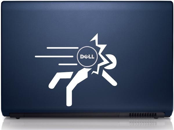 Hit by Apple MacBook Sticker