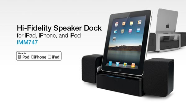 iLuv iMM747 Speaker Dock for iPad, iPhone and iPod