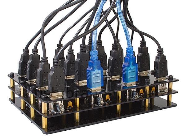 Industrial 16-Port USB Hub