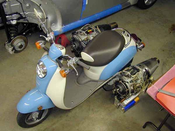 Car Craft Vw >> Volkswagen Beetle Jet Car and Honda Jet Scooter | Gadgetsin