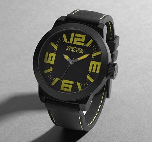 Kenneth Cole Reaction Round Stitched Watch