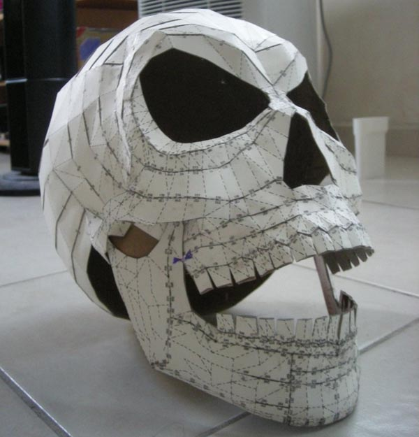 Mad Skull Paper Craft for Your Halloween Party
