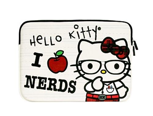 Nerd Hello Kitty Laptop Case