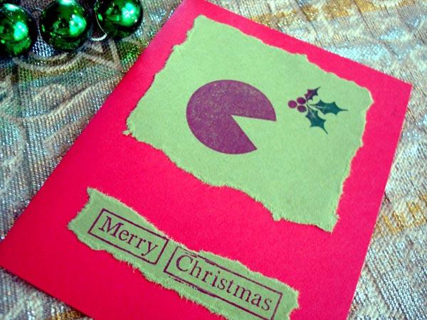 Pacman Christmas Greeting Card