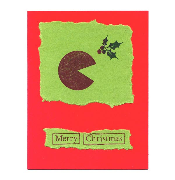 Pacman Christmas Greeting Card