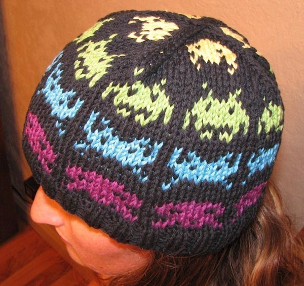 Space Invaders Knit Hat