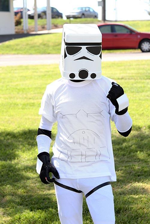 Star Wars Stormtrooper Helmet Built with Trashcan