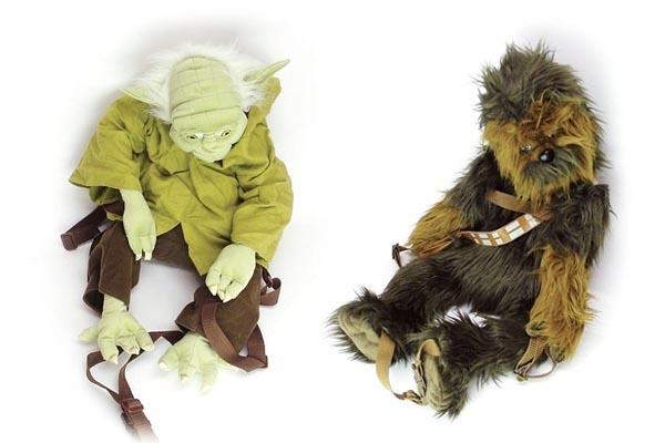 Star Wars Yoda and Chewbacca Backpacks