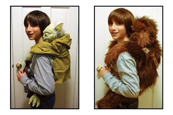 Star Wars Yoda and Chewbacca Backpacks