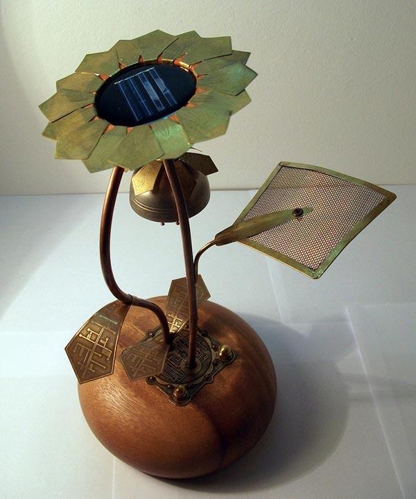 Steampunk Solar Garden Lamp
