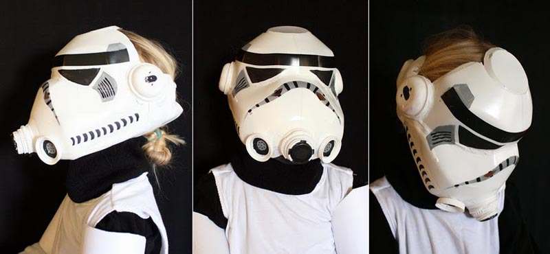 Star Wars Stormtrooper Helmet Built With Milk Jug Gadgetsin