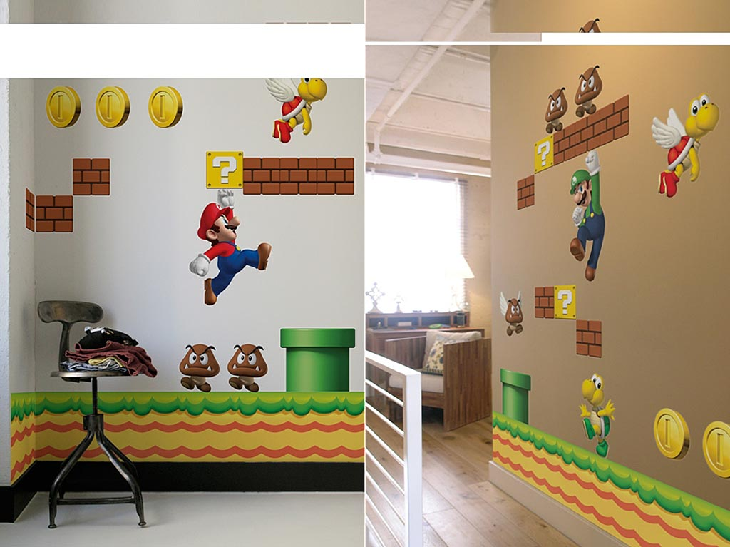 Merveilleux Super Mario Bros Wall Decals