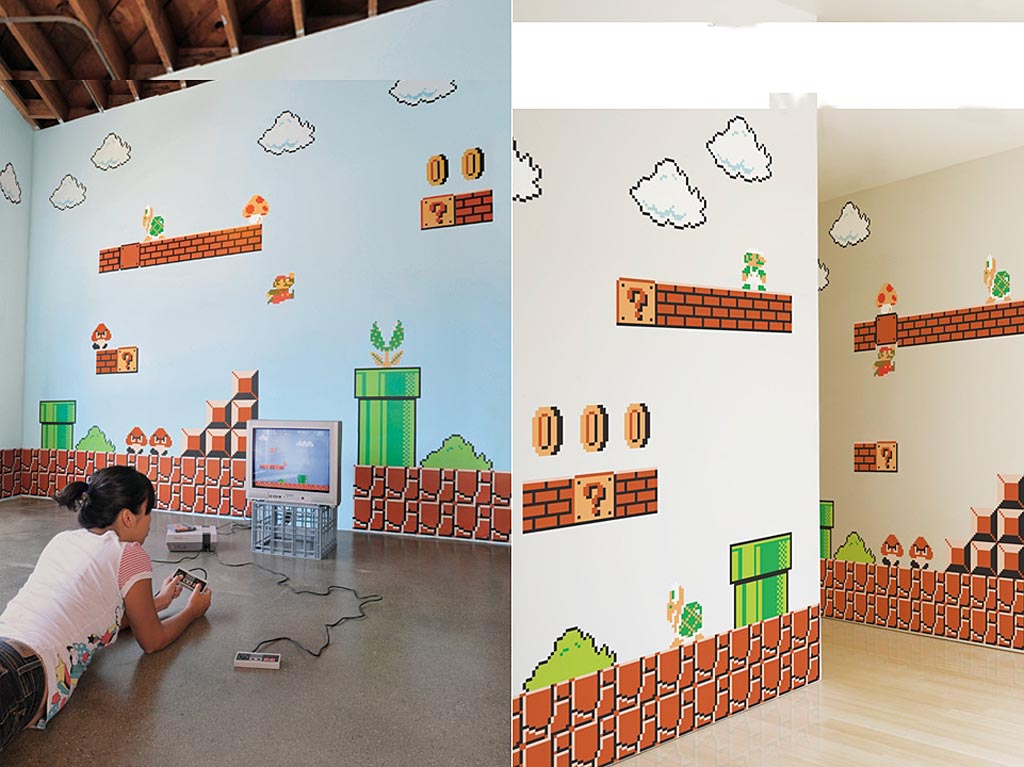 Super mario bros wall decals gadgetsin - Mario wall clings ...
