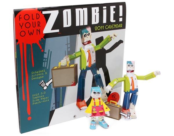 Zombie Paper Craft 2011 Calendar