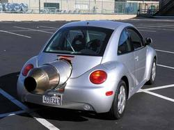 Jet Powered Volkswagen Beetle and Honda Scooter