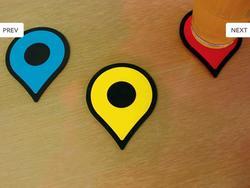 Google Map Pins Coaster Set