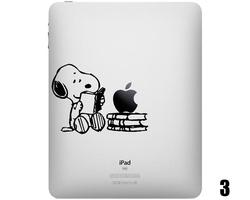 Five Snoopy iPad Decals