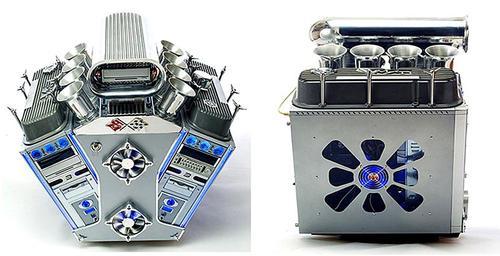 V8 Engine Computer Case Mod