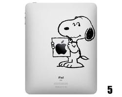 Five Cute Snoopy iPad Decals
