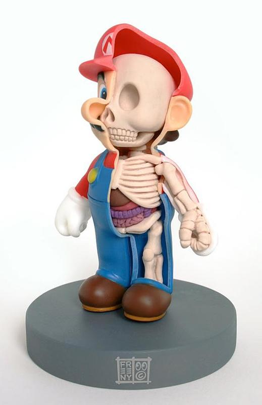 Super Mario Anatomical Collectible Toy Model