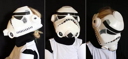 Star Wars Stormtrooper Helmet Built with Milk Jug