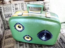 Retro Suitcase BoomBox for Modern Audio Devices