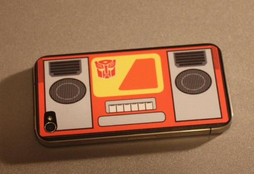 Soundwave and Blaster Transformers iPhone 4 Decals