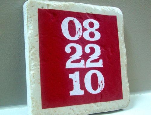Custom Coaster Set Showing You Important Dates