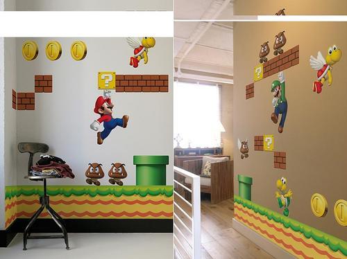 Super Mario Bros Wall Decals