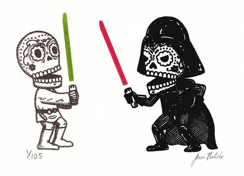 Traditional Mexican Skull Star Wars Characters by Jose Pulido