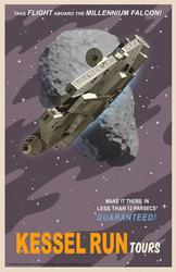 Vintage Star Wars Travel Posters by Steve Thomas