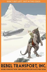 Vintage Star Wars Travel Posters by Steve Thomas