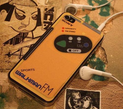 Sony Walkman iPhone 4 Decal