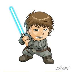 L is for Luke Skywalker by joewight