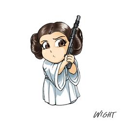 P is for Princess Leia by joewight
