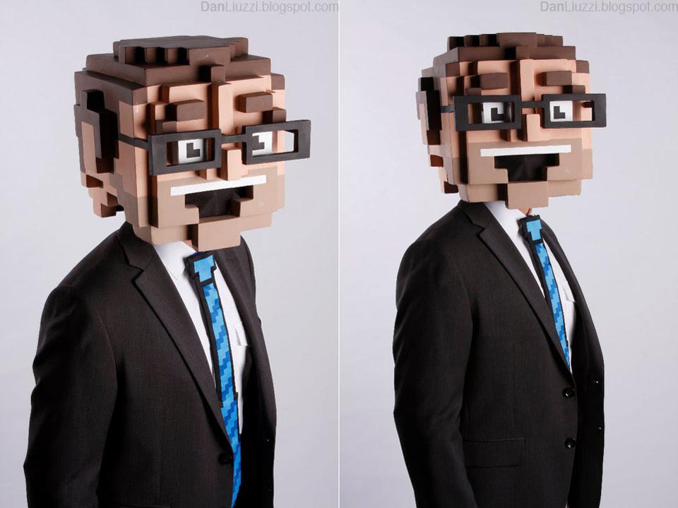 8 Bit Big Head Halloween Costume Gadgetsin