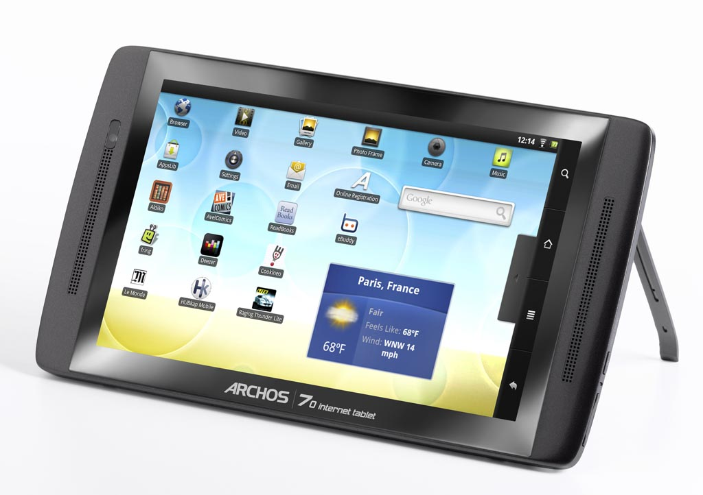 archos 70 internet android tablet pc gadgetsin. Black Bedroom Furniture Sets. Home Design Ideas