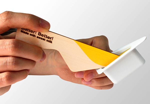 Butter Better Package Design Integrated Spoon