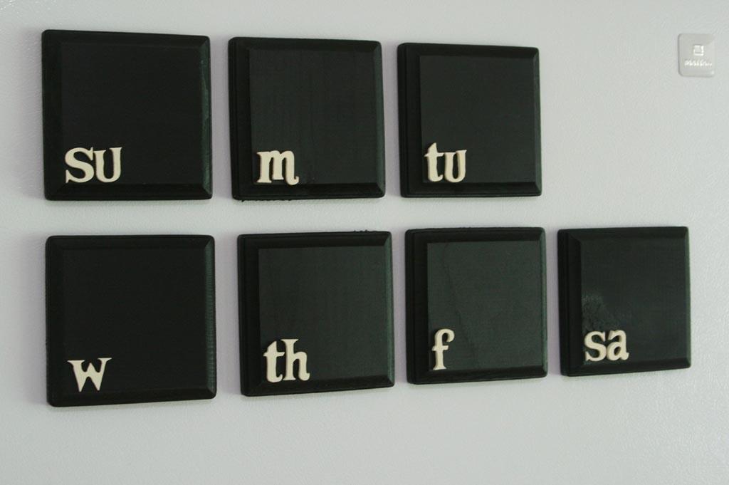 Weekly Calendar Magnet : Chalkboard weekly calendar fridge magnet set gadgetsin