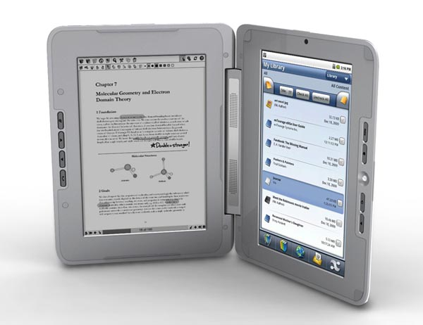 enTourage eDGe Dual Screen eBook Reader Available Now