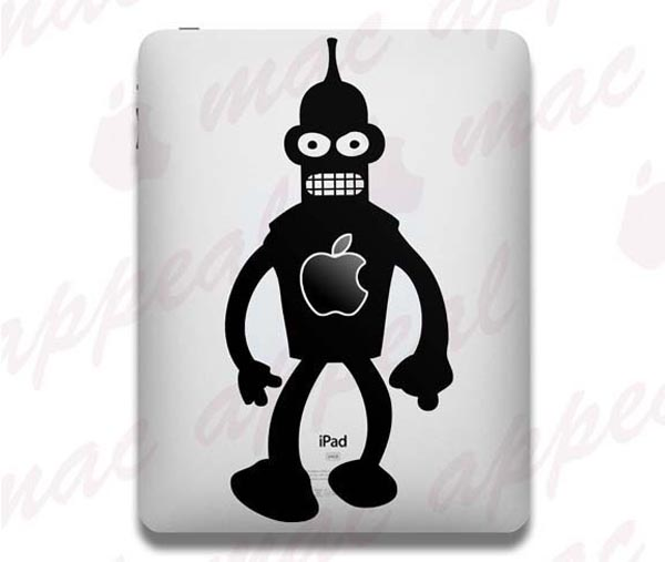 Futurama Bender iPad Decal