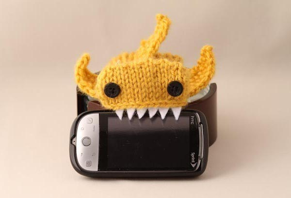 Hand-Knitted Monster Shark iPhone Sleeve