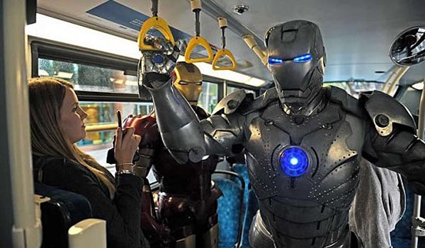 Iron Man and War Machine in London