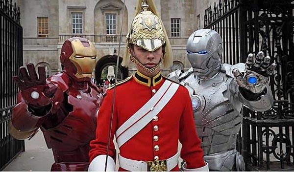 Iron Man and War Machine in London