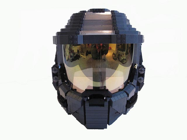 Life-Size Wearable LEGO Halo Master Chief Helmet by Ben Caulkins