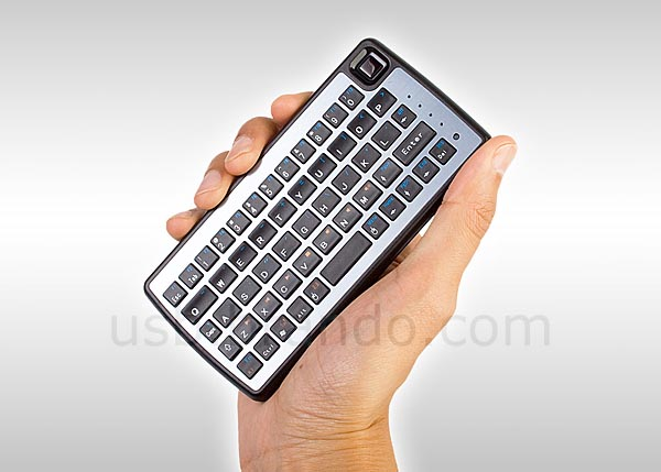 Palm-Sized Mini Bluetooth Keyboard with Mouse Track