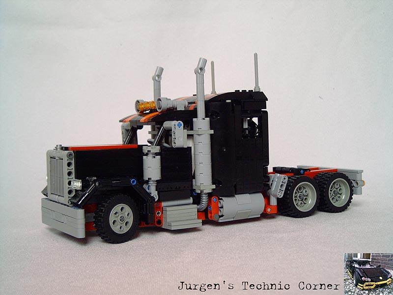 Build A Truck >> Remote Control LEGO American Truck Long Nose   Gadgetsin