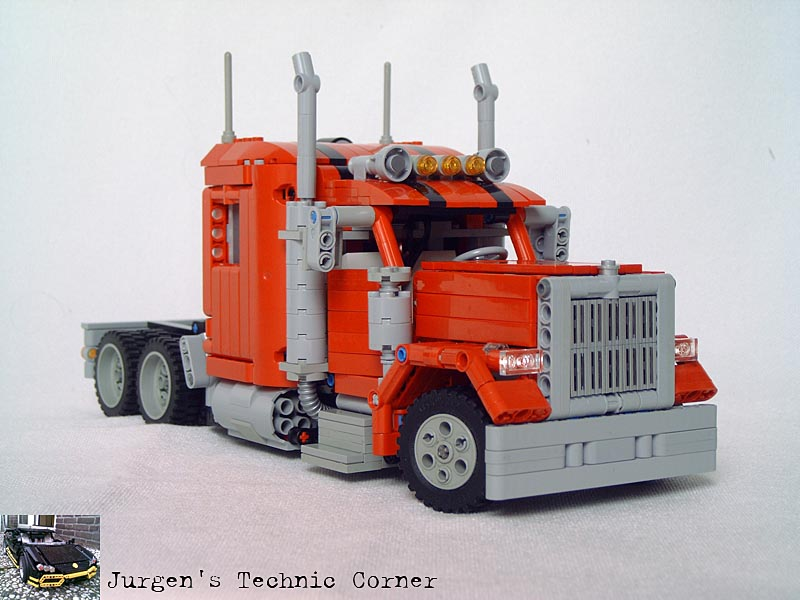 how to build a lego semi truck